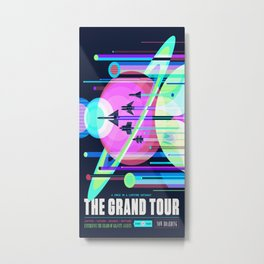 The Grand Tour : Vintage Space Poster Cool Metal Print