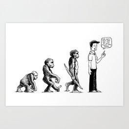 Evolution Art Print