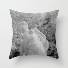 film photograph taken with crown graphic 4x5 camera Throw Pillow