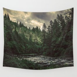 Pacific Northwest River - Nature Photography Wall Tapestry