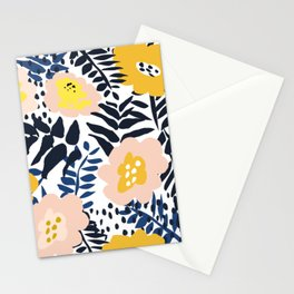 Annicks floral, modern pattern: matching to design for a happy life  Stationery Cards