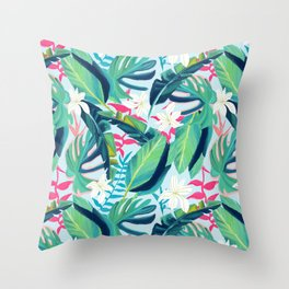 Tropical Eye Candy #painting #illustration #nature Throw Pillow