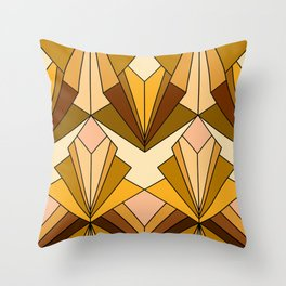 Art Deco meets the 70s - Large Scale Throw Pillow