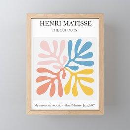 Matisse cutout -Abstract Modern Print, Framed Mini Art Print