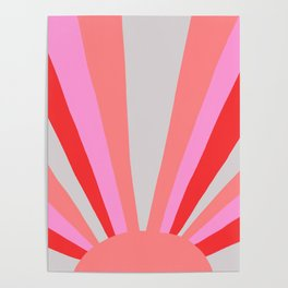 sunshine state, coral Poster
