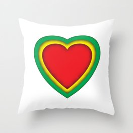 One love, one heart Throw Pillow