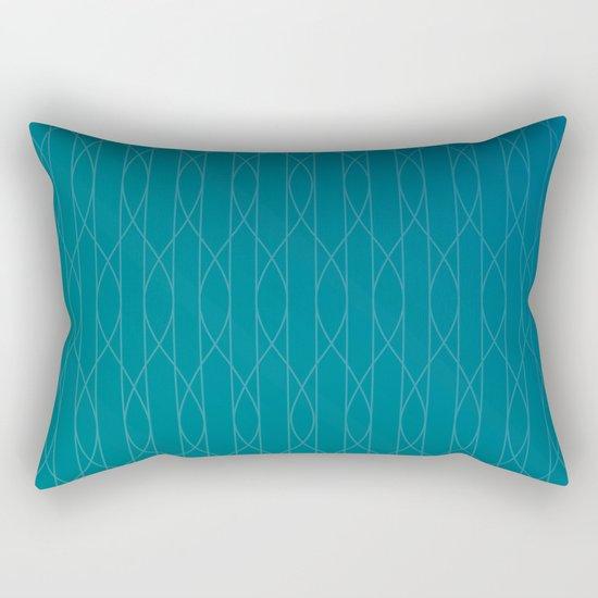 Wave pattern in teal by vrijformaat