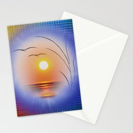 Abstract in perfection - Fertile Imagination Sunst Stationery Cards