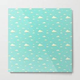 Fishies swimming in the Sky  Metal Print