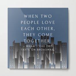 Rear Window Classic Movie Quote Metal Print