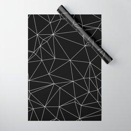 Geometric Black and White Minimalist Pattern Wrapping Paper