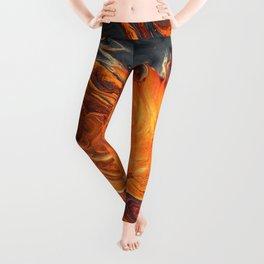 Lava Art Leggings