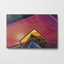 Bridge of a Thousand Colors, a Beautiful Rainbow Fractalscape Metal Print