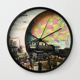 Twentieth Century Transportation by E.S Yate Wall Clock