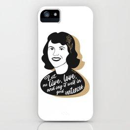 Let Me Live - Sylvia Plath - Black & Gold iPhone Case