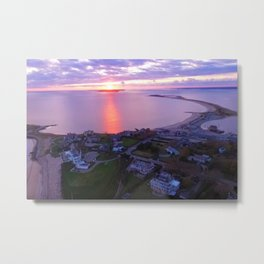 Napatree Point Sunset - Watch Hill - Westerly, Rhode Island Metal Print
