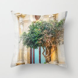 Trapani art 4 Throw Pillow
