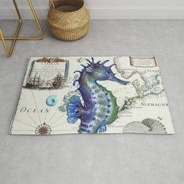 Blue Seahorse Sea Rug