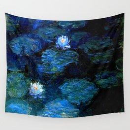 monet water lilies 1899 blue Teal Wandbehang