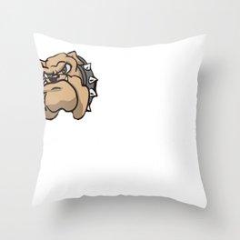 Mens Proud Pitbull Dad Shirt Throw Pillow