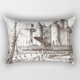 Swamp Fortress ink Rectangular Pillow