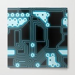 Circuit Pattern Metal Print