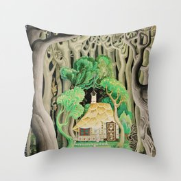 1925 Classical Masterpiece 'Hansel and Gretel by Brothers Grimm' by Kay Nielsen Throw Pillow