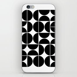 Mid Century Modern Geometric 04 Black iPhone Skin