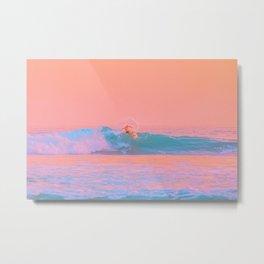 Sherbet Surfer Metal Print