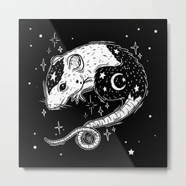 the Witch's Companion Metal Print