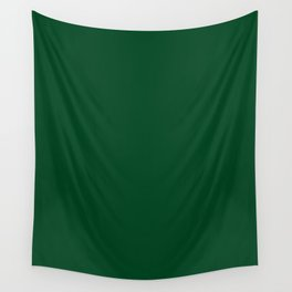 Forest Green (Traditional) - solid color Wall Tapestry