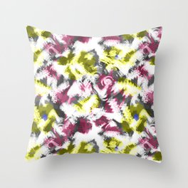 """Watercolor glamour . Maroon and yellow. Throw Pillow"