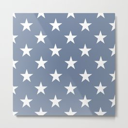 White stars on blue background. From the collection - Hello America. Metal Print