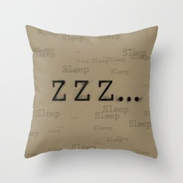 ZZZ... Sleep Throw Pillow