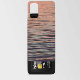 Sunset on the water Android Card Case