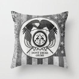 Faith Hope Liberty & Freedom Eagle on US flag Throw Pillow