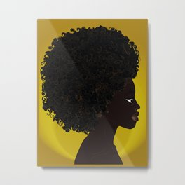 AFRO QUEEN - GOLD Metal Print