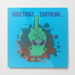 The Finger Alien #11 Metal Print