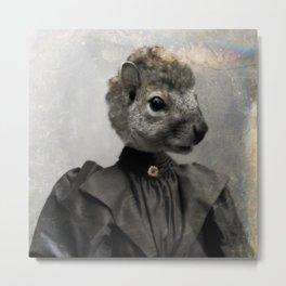 Miss Squirrel Metal Print