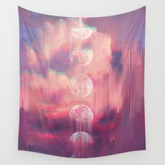 Moontime Glitches Wall Tapestry
