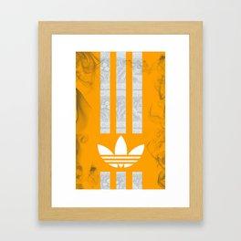 Unique Batik Adidas Yellow Case Framed Art Print