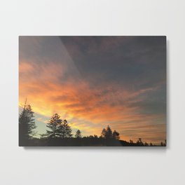 Beautiful orange/yellow sunset Metal Print