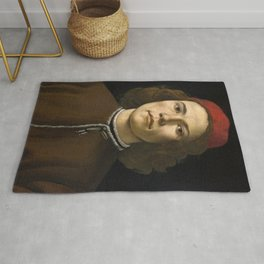 Sandro Botticelli - Portrait of a Young Man Rug
