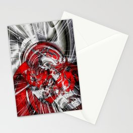 Blind in the storm Stationery Cards