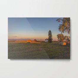 Curious Farmstead, North Dakota 1 Metal Print