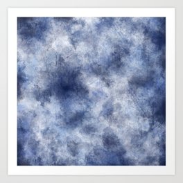 Navy Watercolor Fog Art Print