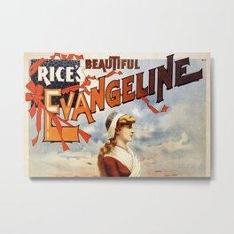 Rice's Beautiful Evangeline Metal Print