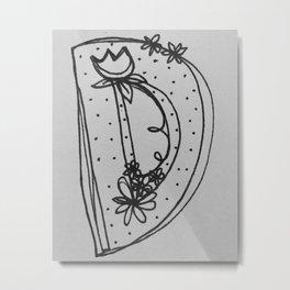 FLOWER D (B&W) Metal Print