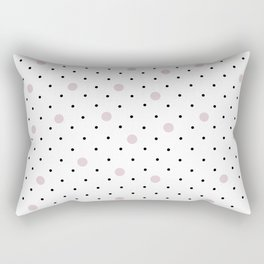 Pin Points Polka Dot Pink Rectangular Pillow
