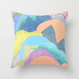Modern Landscapes and Patterns Throw Pillow